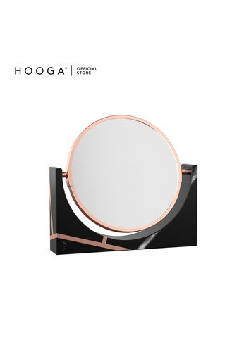 HOOGA black and gold Hooga Toiletries Vanity Mirror F69C0HL5C08CCBGS_1