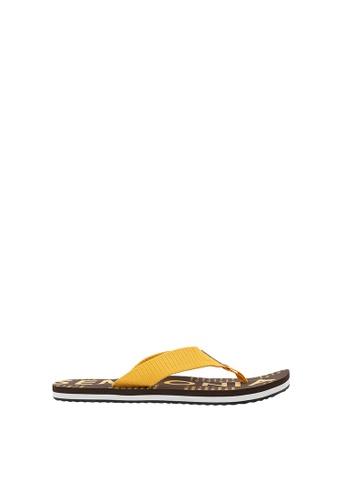 SEMBONIA yellow Men Nylon Sandal 65E9BSHA3F0774GS_1