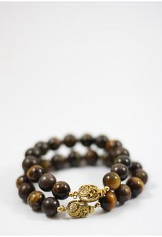 Roxyl Yellow Tiger's Eye and Bronzite Women's Bracelet