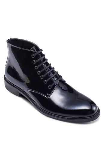漆皮繫帶短靴,zalora 折扣碼 鞋, 靴子