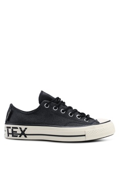 89fa7f2e0d16 Converse black Chuck Taylor All Star 70 Gore-Tex Leather Ox Sneakers  96EEBSHA934238GS 1