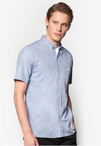 斜紋休閒esprit hk store短袖襯衫, 服飾, 服飾
