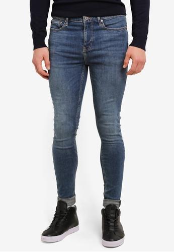 Topman blue Green Cast Super Spray On Jeans TO413AA0SC1RMY_1