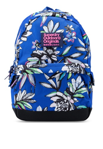 Superdry blue Print Edition Montana Backpack F7F61AC4ACBA7AGS_1