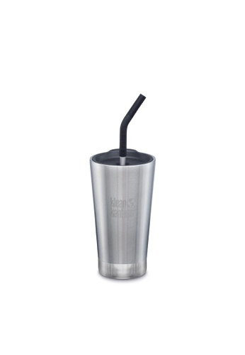 Klean Kanteen silver Klean Kanteen Insulated Tumbler 16Oz (With Straw Lid) (Brushed Stainless) 23139AC85EBEC7GS_1