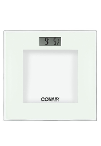 Conair white Ultra Slim Glass Electronic Scale C2E76HL932293AGS_1