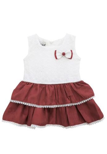 FIYORA red Diana Cotton Baby Girl Dress D9370KAC7BC8E4GS_1