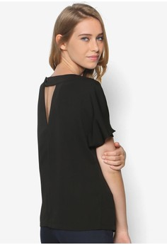 Collection Back Detail Top With Slit Sleeves