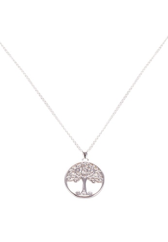 Mestige 銀色 Willow Tree Of Life 項鍊 With Swarovski Crystals 608B3AC69A75FBGS_1