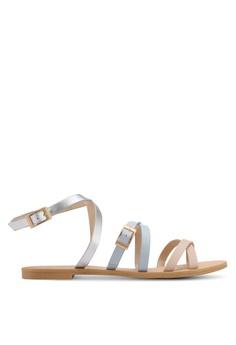 ZALORA silver Strappy Sandals AF658SHAD2F01FGS_1