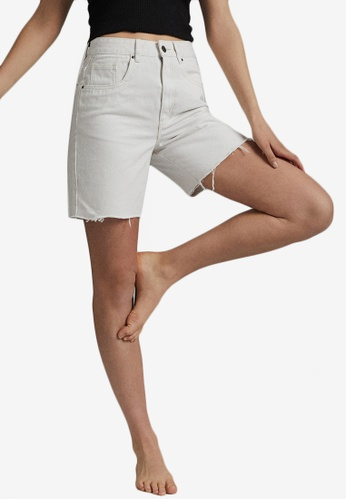 Cotton On white Straight Denim Bermuda Shorts D5CA2AAC4A12E9GS_1