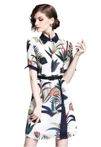 Sunnydaysweety multi Lady Choice Silk One-piece Shirt Dress A051707 SU219AA0HA8TSG_1