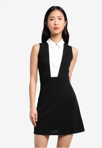 ZALORA black Shirt Panel Dress 950DBAAF551A88GS_1