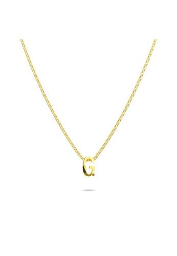 Bullion Gold gold BULLION GOLD Initials Brick Alphabet Letter Necklace Gold Layered Steel Jewellery   G D4D83ACC03FDBAGS_1