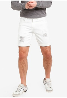 High Cultured white Slim-Fit White Ripped Jeans Shorts-31 3A39BAA68E7B68GS 1 c2bedcb3b0b