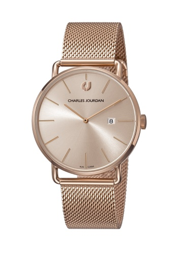 Charles Jourdan gold Charles Jourdan Men Watch Classic Quartz CJ1069-1572 CBAF8ACD95E653GS_1