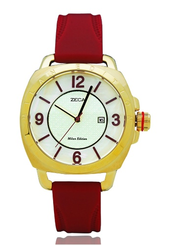 ZECA red Zeca Watches Ladies Fashion Rubber Analog - 1006L Red 8DC53AC677C145GS_1