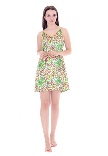 Cynthia green Satin Sexy Sleepwear - Green 0E3B7AA8DA4582GS_1