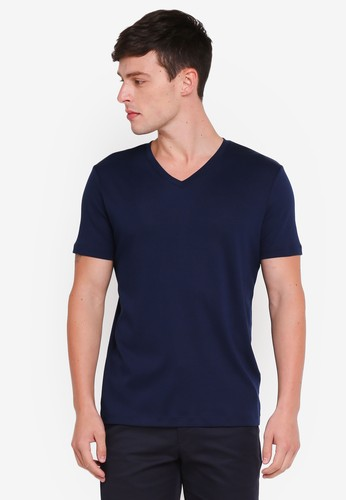 Banana Republic navy Lux Solid Tee 7F0D1AA6ACB6C7GS_1