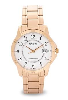 Round Analog Watch MTP-V004G-7B