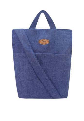 Ripples blue Faith Denim Sling Bag B74E9AC4E0AF6DGS_1