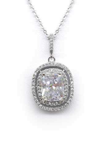 Her Jewellery white and silver Aleka Pendant (White Gold) HE210AC0FM1TSG_1