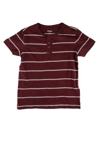 FOX Kids & Baby red Kids-Boys Striped Tee B7DFDKA04E9EB9GS_1