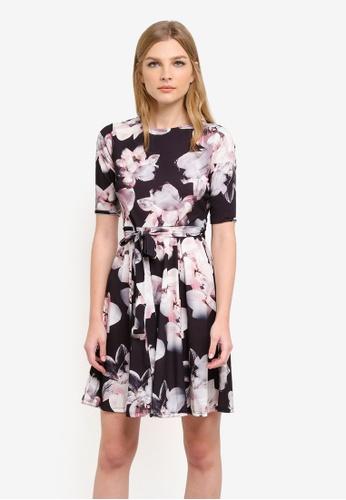 Wallis brown Stone Floral Dress WA800AA0S6TBMY_1
