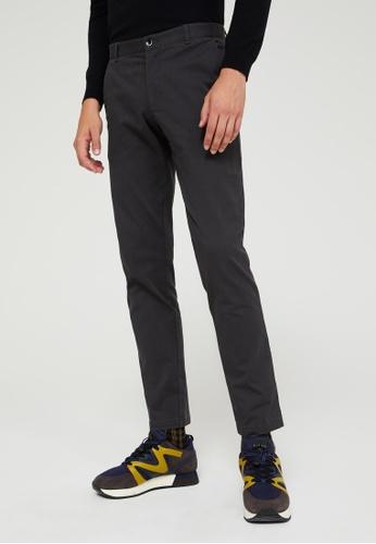 Sisley grey Slim Fit Trousers E27C9AA2F0A554GS_1