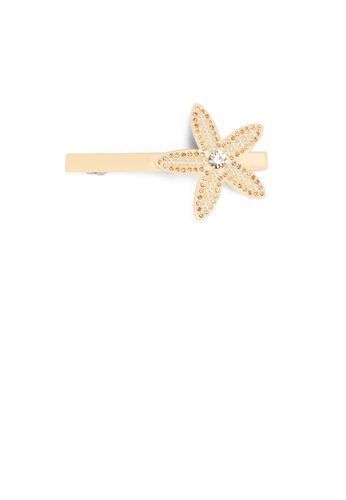 Glamorousky white Fashion Simple Beige Star Hair Clip with Cubic Zirconia and Imitation Pearl 0D831AC010719DGS_1