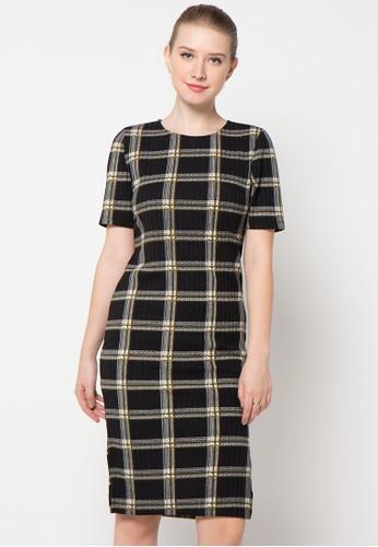 Raspberry black Elena Midi Printed Dress RA572AA54JBLID_1