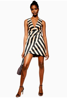 a7052b270d1 50% OFF TOPSHOP Stripe Wrap Structured Dress S  149.00 NOW S  74.90 Sizes 6  8 10 12