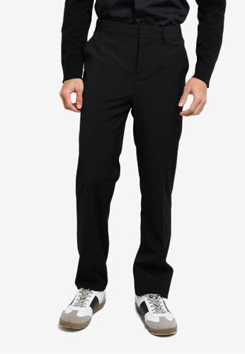 ck Calvin Klein black WOOL BLEND PANTS 55607AA7B9B980GS_1