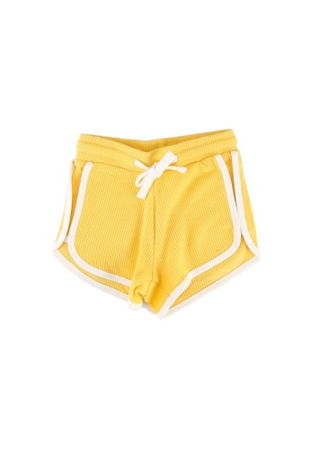 FOX Kids & Baby yellow Girls Drawstring Contrast Trim Shorts 57CACKA4DD0EEDGS_1
