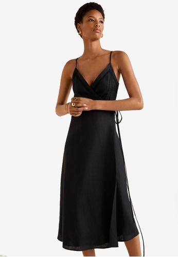 bbc01fd035f Buy Mango Linen Wrap Dress Online on ZALORA Singapore