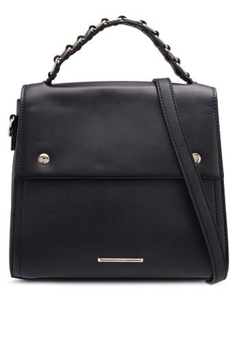 Nose black Metal Detail Top Handle Bag 27190AC80B7FE9GS_1