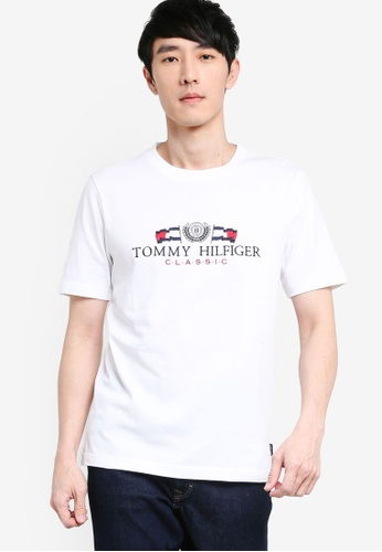 Tommy Hilfiger white Tommy Classic Flags Tee FAB4BAA0213A7CGS_1