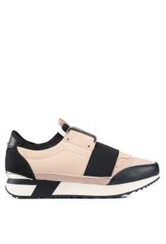 6bc6de52ce4 River Island beige Echo- Beige Runner Runners With Gold Trim Sneakers  C907DSH5022FADGS 1