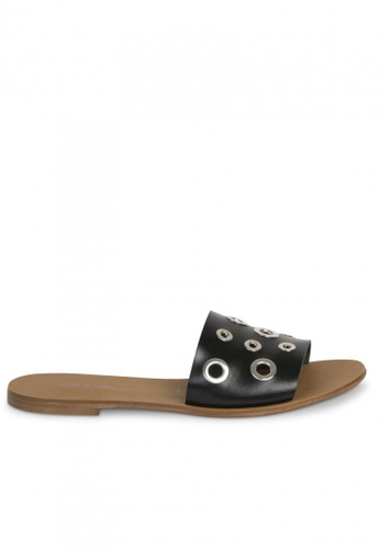 Andre black ADCACAO Leather Mules AN324SH35GWYSG_1
