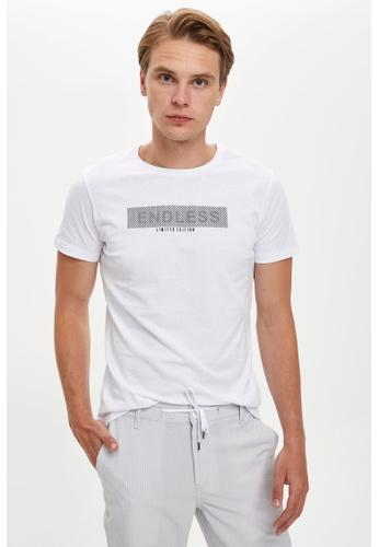 DeFacto 白色 Short Sleeve Round Neck Cotton Printed T-Shirt 1537DAA58982C9GS_1