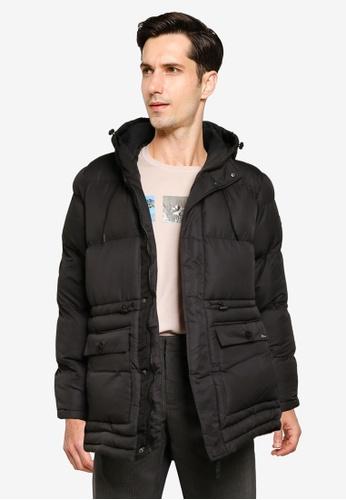 BLEND black Hooded Puffer Parka Jacket 2C024AAAC42C8CGS_1