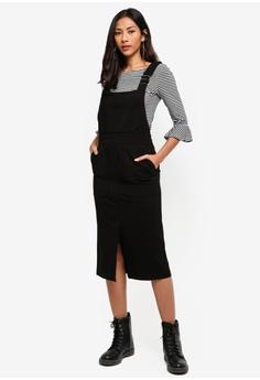 493a3fecfe20 Hopeshow black Suspender Long Skirt 2F59CAAAF40E4CGS 1