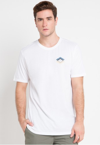 hurley white and multi Dri-Fit Frail T-Shirt AC3C5AA417A4B8GS_1