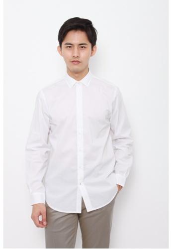 Dockers white Dockers Refined Long Sleeve Shirt Paper White DO282AA0G6OISG_1