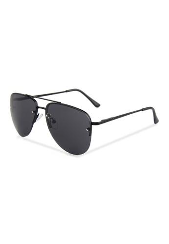 Quattrocento Eyewear Quattrocento Eyewear Italian Sunglasses with Black Lenses Model Mariani 2F7E7GL0A2A577GS_1