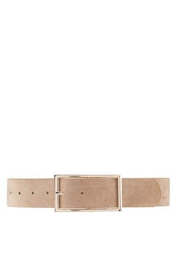 Dressing Paula beige Faux Suede Low Waist Belt 7A152AC5704EBCGS_1