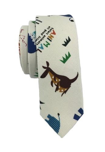 Splice Cufflinks Potpurri Series Animals Design White Cotton Tie SP744AC29KZISG_1