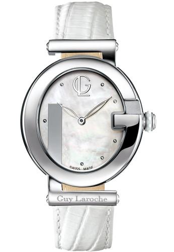 Guy Laroche Watches white guy laroche swiss made - GL 6474LW-01 - jam tangan wanita - leather strap - white 9CCEEAC837B116GS_1
