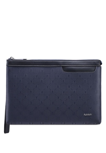 Playboy blue Printed Clutch Bag 4318EAC18F97A4GS_1