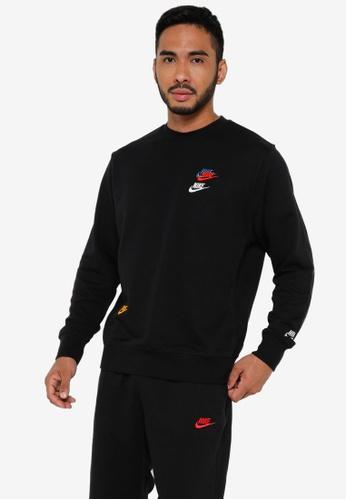 Nike black Sportswear Essential Terry Crew Sweater FD76EAA19E11A2GS_1